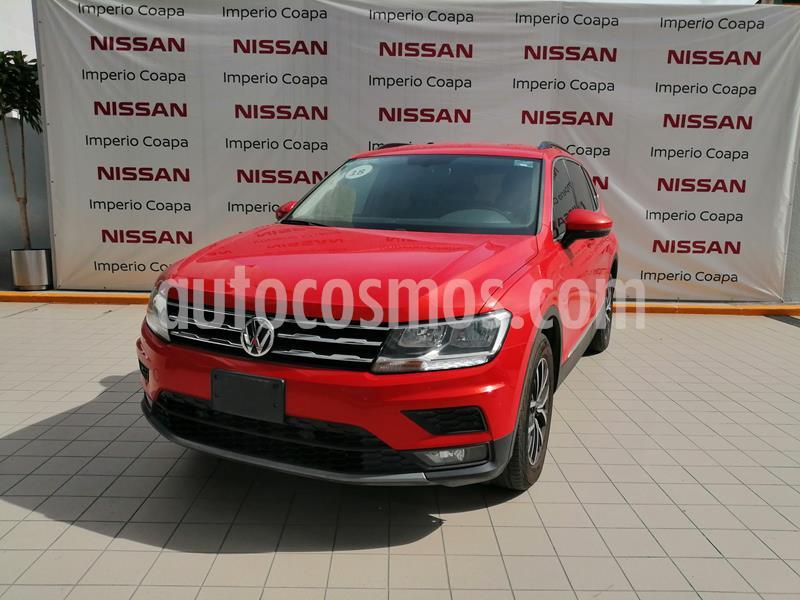 Volkswagen Tiguan Comfortline 5 Asientos Piel usado (2018) color Naranja precio $359,000