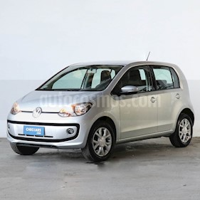 Volkswagen up! 5P 1.0 high up! usado (2014) color Plata precio $452.000