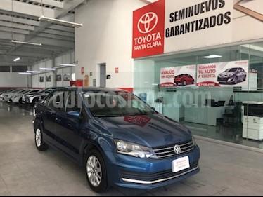Volkswagen Vento 4P COMFORTLINE AT A/AC. VEMP3 RA-15 usado (2017) color Azul precio $175,000