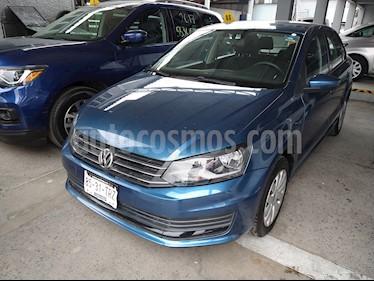 Volkswagen Vento Startline Aut usado (2018) color Azul Noche precio $190,000
