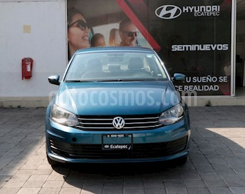 Volkswagen Vento Startline Aut usado (2018) color Azul precio $185,000