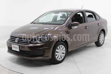 Volkswagen Vento 4p Starline L4/1.6 Aut usado (2018) color Cafe precio $160,000