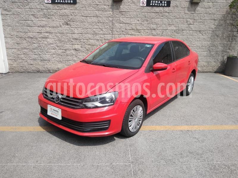 Volkswagen Vento Startline Aut usado (2020) color Rojo precio $199,000