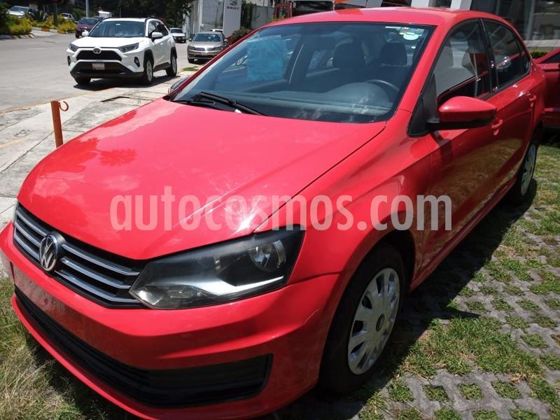 Volkswagen Vento Startline Aut usado (2018) color Rojo precio $150,000