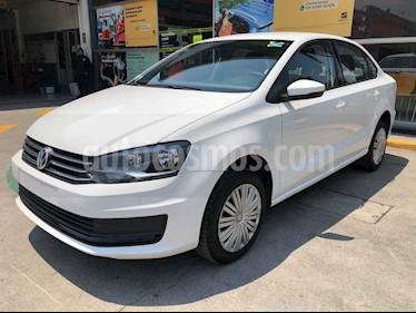 Volkswagen Vento 4p Starline L4/1.6 Aut usado (2020) color Blanco precio $210,990