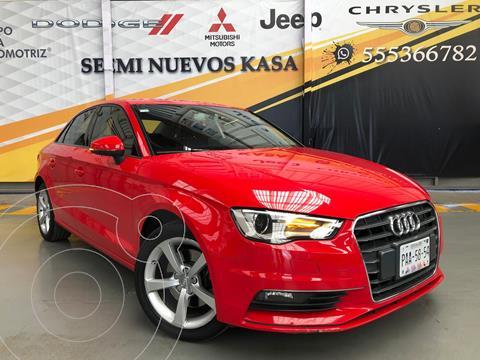 Audi A3 1.8L Ambiente usado (2015) color Rojo precio $260,000