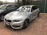 Foto venta Auto usado BMW Serie 2 220iA Sport Line Aut (2016) color Plata Lunar precio $320,000