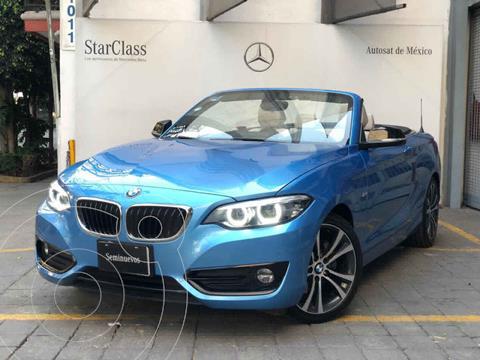 BMW Serie 2 220iA Convertible Sport Line Aut usado (2018) color Azul precio $490,000