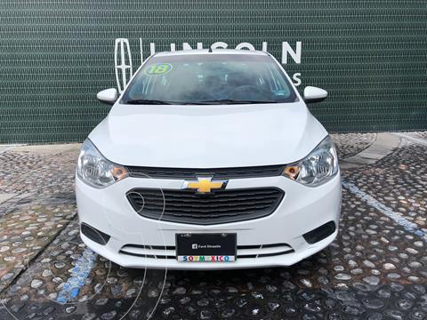 Chevrolet Aveo LS Aut usado (2018) color Blanco financiado en mensualidades(enganche $42,250 mensualidades desde $4,800)