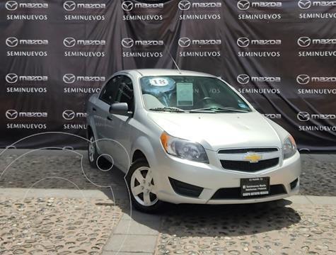 Chevrolet Aveo LS usado (2018) color Plata Brillante precio $165,000