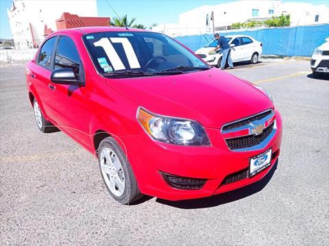 Chevrolet Aveo 4P LT L4/1.6 MAN usado (2017) color Rojo precio $145,000