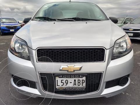 Chevrolet Aveo LS Aa usado (2015) color Plata financiado en mensualidades(enganche $10,990 mensualidades desde $3,343)