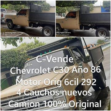 Chevrolet C 30 Pick-Up V8 5.7 usado (1986) color Marron precio u$s2.600