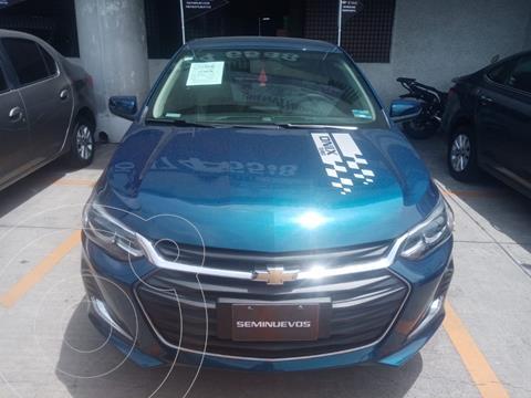 Chevrolet Onix Premier Aut usado (2021) color Azul financiado en mensualidades(enganche $30,900)
