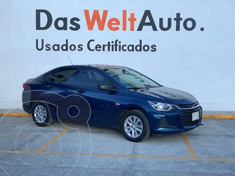 Chevrolet Onix LS usado (2021) color Azul financiado en mensualidades(enganche $73,622 mensualidades desde $5,174)