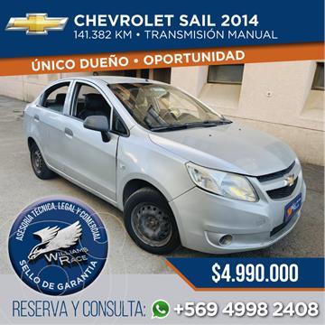 Chevrolet Sail 1.4  usado (2014) color Plata precio $4.990.000