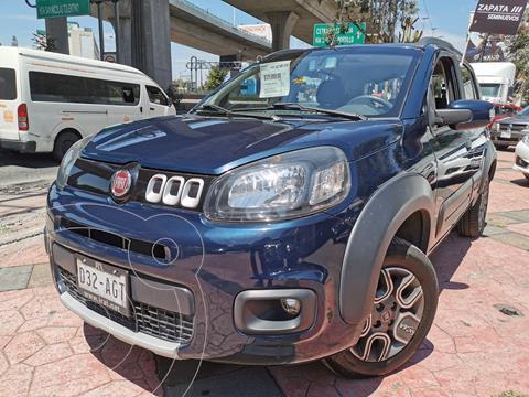Fiat Uno Way usado (2016) color Azul Neptuno precio $135,000
