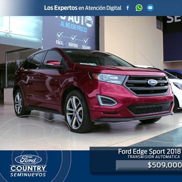 Ford Edge Sport usado (2018) color Rojo precio $509,000