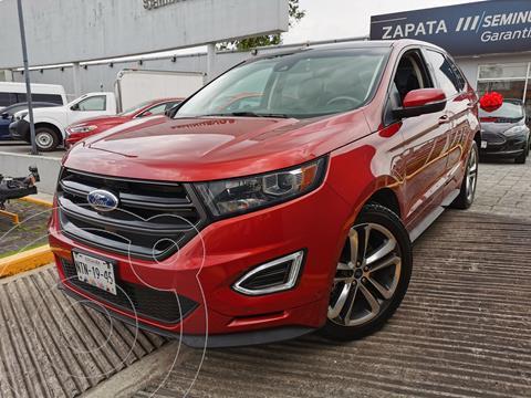 Ford Edge Sport usado (2018) color Rojo Rubi financiado en mensualidades(enganche $147,500 mensualidades desde $13,610)