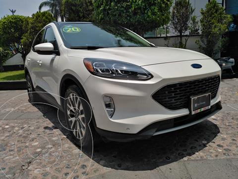Ford Escape Titanium EcoBoost usado (2020) color Blanco Platinado financiado en mensualidades(enganche $157,500)