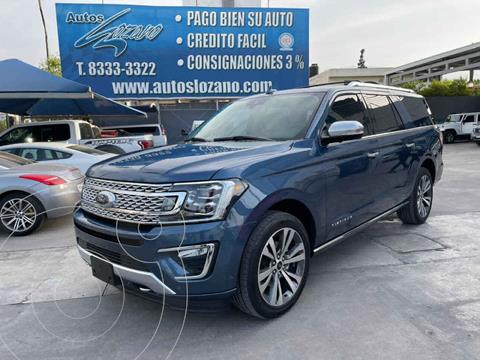 Ford Expedition Platinum 4x4 MAX usado (2020) color Azul precio $1,199,900