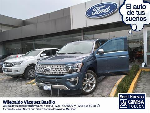 Ford Expedition PALTINUM MAX 4X4 usado (2018) color Azul Electrico precio $900,000