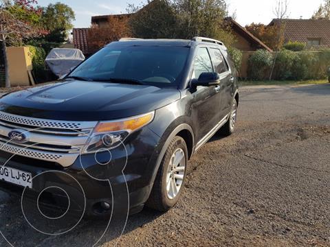 Ford Explorer 3.5L XLT 4x2  usado (2011) color Negro precio $12.890.000