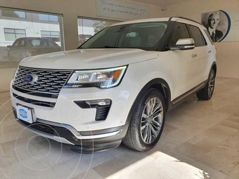 Ford Explorer Platinum 4x4 usado (2018) color Blanco precio $699,000
