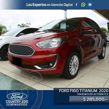 Ford Figo Sedan TITANIUM TA 4PTAS 1.5L usado (2020) color Rojo precio $285,000