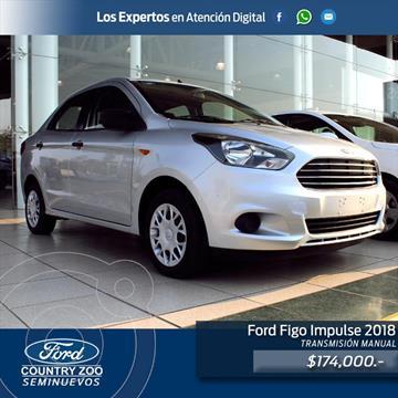 Ford Figo Sedan Impulse A/A usado (2018) color Plata precio $174,000