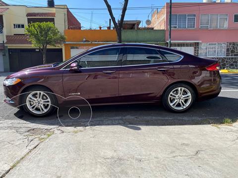 Ford Fusion SE LUX Hibrido usado (2018) color Vino Tinto precio $360,000