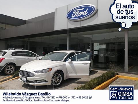 Ford Fusion SE LUX Hibrido usado (2018) color Blanco precio $382,000