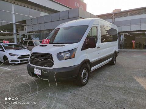 Ford Transit Diesel Bus 15 Pasajeros usado (2017) color Blanco precio $450,000