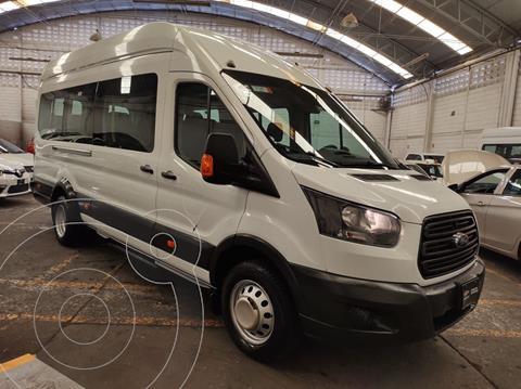 Ford Transit Gasolina Bus 15 Pasajeros usado (2018) color Blanco precio $495,000