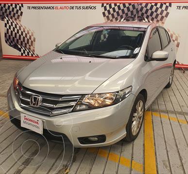 Honda City EX 1.5L usado (2013) color Plata financiado en mensualidades(enganche $144,000 mensualidades desde $3,635)