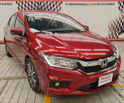 Honda City EX 1.5L Aut usado (2018) color Rojo financiado en mensualidades(enganche $125,000 mensualidades desde $3,080)