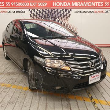 Honda City EX 1.5L usado (2013) color Negro financiado en mensualidades(enganche $95,000 mensualidades desde $8,563)