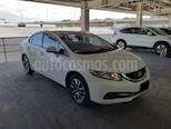 Foto venta Auto usado Honda Civic 4p EX Sedan L4/1.8 Aut (2014) color Blanco precio $199,000