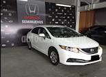 Foto venta Auto usado Honda Civic 4p LX Sedan L4/1.8 Aut (2014) color Blanco precio $187,000