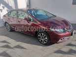 Foto venta Auto usado Honda Civic EX 1.7L Aut (2015) color Rojo precio $195,000