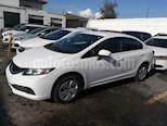 Foto venta Auto usado Honda Civic LX 1.8L (2014) color Blanco precio $165,000