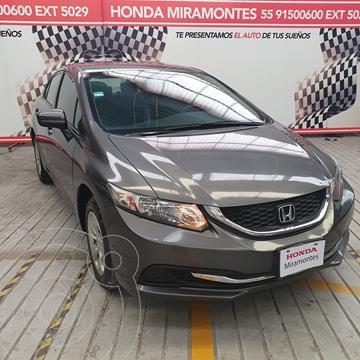 Honda Civic LX 1.8L Aut usado (2015) color Acero financiado en mensualidades(enganche $56,250 mensualidades desde $6,291)