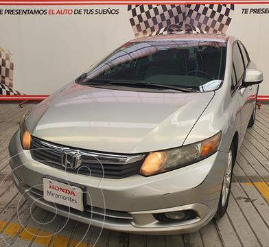 Honda Civic LX 1.8L usado (2014) color Plata Diamante financiado en mensualidades(enganche $92,500 mensualidades desde $4,706)