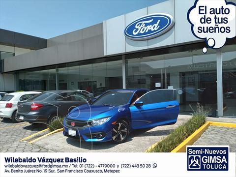 Honda Civic Coupe Turbo Aut usado (2018) color Azul Claro precio $335,000
