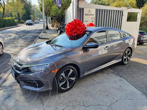 Honda Civic Turbo Plus Aut usado (2018) color Gris Oscuro precio $355,000