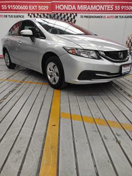 Honda Civic LX 1.8L usado (2014) color Plata financiado en mensualidades(enganche $76,000 mensualidades desde $5,752)