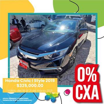 Honda Civic i-Style Aut usado (2019) color Negro precio $325,000