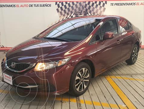 Honda Civic EX 1.8L Aut usado (2013) color Rojo Granada financiado en mensualidades(enganche $152,000 mensualidades desde $3,816)