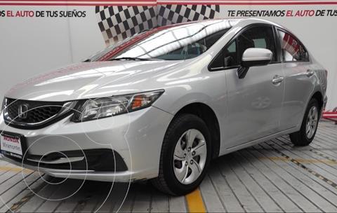 Honda Civic LX 1.8L usado (2014) color Plata Diamante financiado en mensualidades(enganche $90,000 mensualidades desde $4,584)