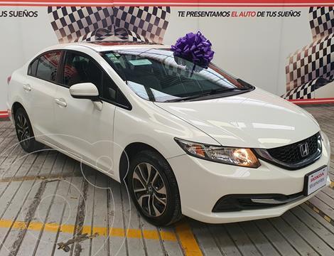 Honda Civic EX 1.8L Aut usado (2015) color Blanco Marfil financiado en mensualidades(enganche $120,000 mensualidades desde $4,323)